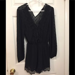 Sheer black romper